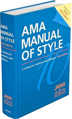 AMA Manual of Style By American Medical Association (COR)